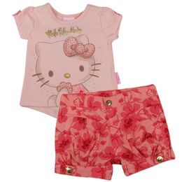 Conjunto-Blusa-e-Shorts-Florido---Rosa---Hello-Kitty