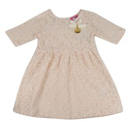 Vestido-Rendado---Bege---Hello-Kitty