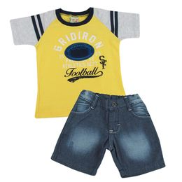 Conjunto-Camiseta-e-Bermuda-Football-Jeans---Amarelo---Have-Fun