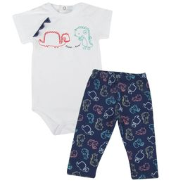 Conjunto-Body-e-Calca-Estampa-Dino---Branco-com-Marinho---Baby-Fashion