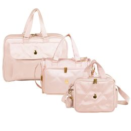Kit-com-3-Bolsas---Dreams---Anne---Termica---Nylon-Rosa---Masterbag