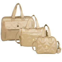 Kit-com-3-Bolsas---Dreams---Anne---Luana---Nylon-Caqui---Masterbag