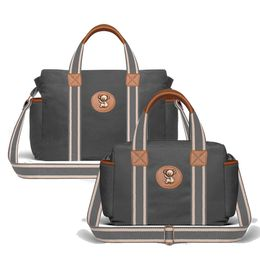 Kit-com-2-Bolsas---Albany---Termica-Gold-Coast---Adventure-Chumbo---Classic-For-Baby-Bags