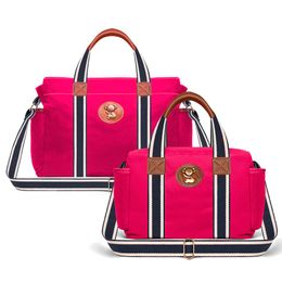 Kit-com-2-Bolsas---Albany---Termica-Gold-Coast---Adventure-Pink---Classic-For-Baby-Bags