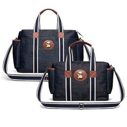 Kit-com-2-Bolsas---Albany---Termica-Gold-Coast---Aventure-Jeans---Classic-For-Baby-Bags