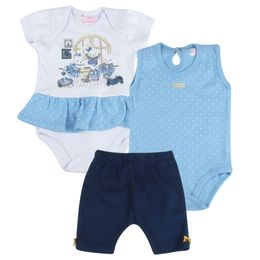 Kit-Body-e-Shorts-Ursas-Poa---Azul-Claro-com-Branco---Have-Fun