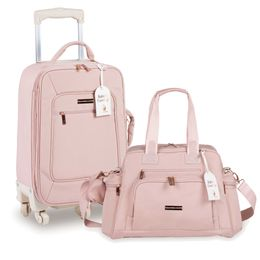Kit-com-2-Bolsas---Rodinha---Everyday---Rose-Gold-Rose---Masterbag
