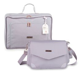 Kit-com-2-Bolsas---Vintage---Mommy---Rose-Gold-Cinza---Masterbag
