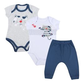 Kit-Body-e-Calca-Gatinho---Marinho-com-Cinza---Have-Fun-