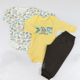 Kit-Body-ML-e-Calca-Safari---Amarelo---Have-Fun