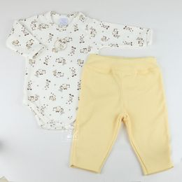 Conjunto-Body-e-Calca-Algodao-Egipcio-Little-Dog---Amarelo---Piu-Piu-
