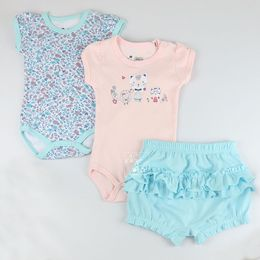Kit-Body-e-Shorts-Gatinha-Floral---Azul-com-Rosa---Have-Fun